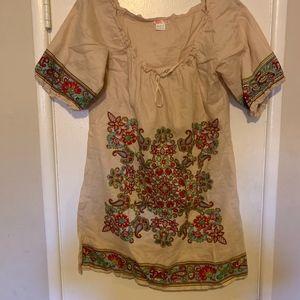 Love Culture Bohemian100% Linen Dress Size L